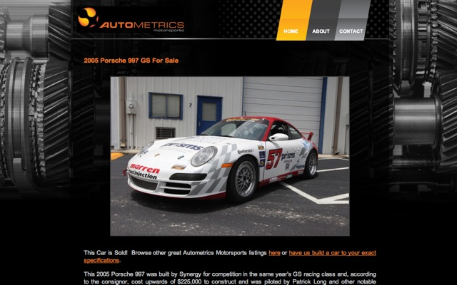 Autometrics Motorsports Car For Sale Service